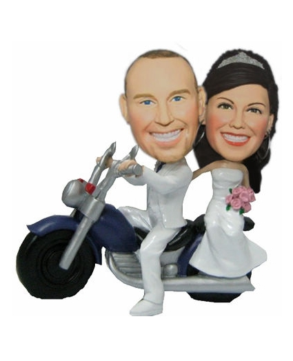 Mortorcycle wedding bobble heads BW53
