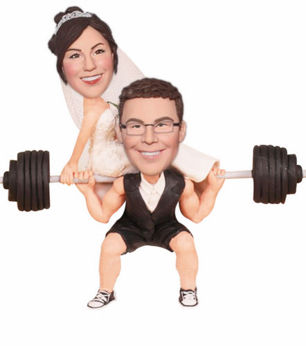 Groom lifting Bride Bobblehead BW73