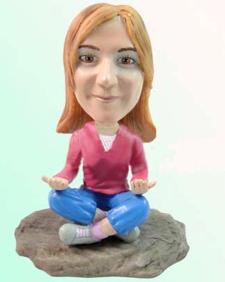 custom bobblehead - YOGA D156