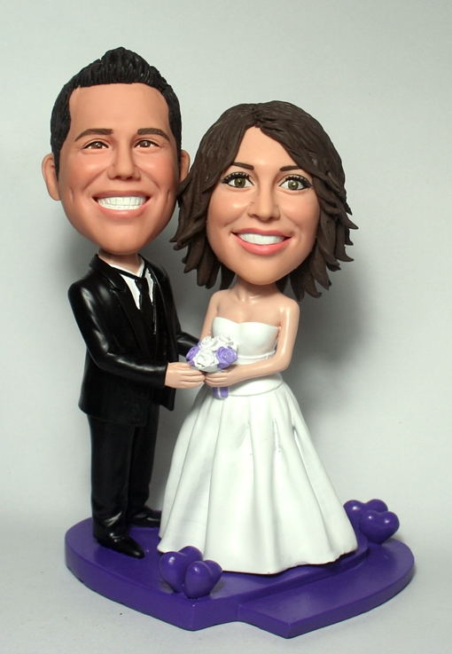 Wedding bobblehead cake toppers - L29