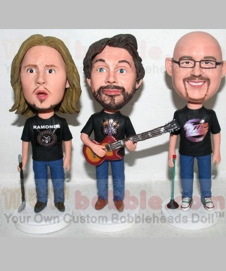 Fully customized bobbleheads for 3 persons