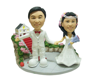 Wedding Bobbleheads USA- S056