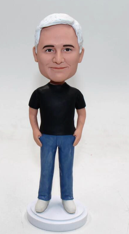 Personalized bubblehead dolls in jeans