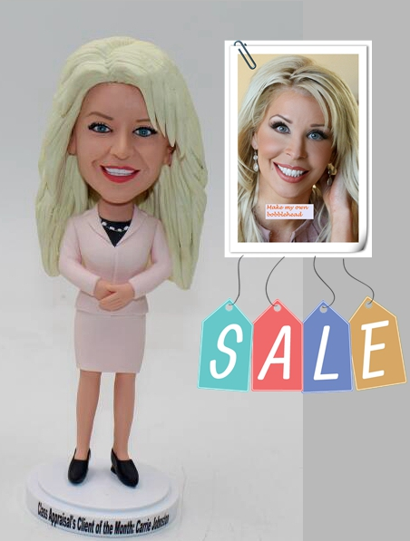 Custom bobblehead doll office lady - Click Image to Close