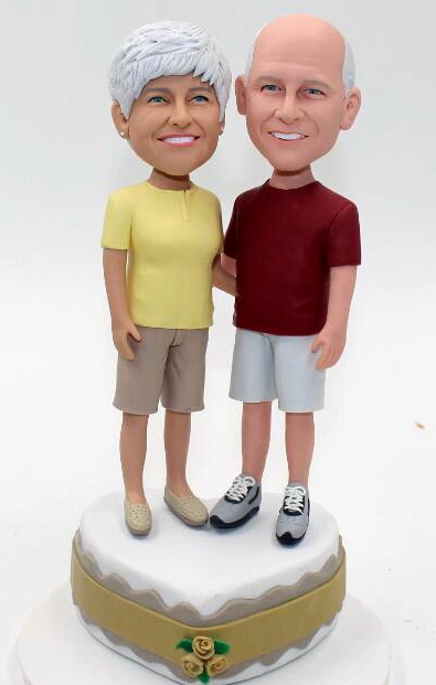Golden wedding 50th Anniversay bobbleheads
