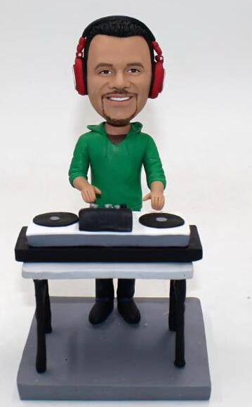 Personalized DJ bobble head doll