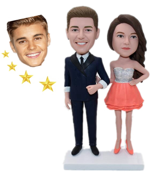 Custom Couple Bobbleheads With Celebrity R2006 134 00