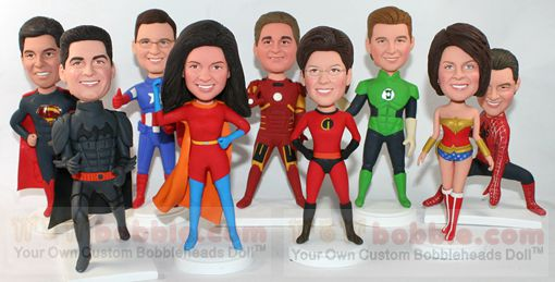 superhero custom bobbleheads wowbobble your personal custom