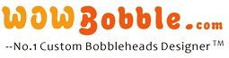 Wowbobble makes custom bobblehead dolls (bobblehead cake toppers) from your photo, personalized bobble heads!