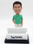 Custom bobbleheads with card holder