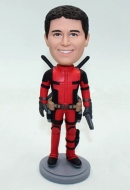 Custom deadpool bobblehead with gun