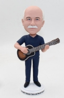 Custom doctor bobblehead Playing ukulele