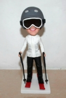 Custom bobblehead Female skiing