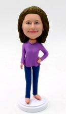 Custom bobblehead for lady
