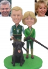 Custom bobbleheads couple hunting