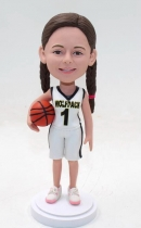 Custom basketball girl bobblehead- gift for daughter