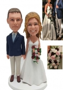 Custom bobblehead cake topper from Photo