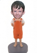 Custom romper boy bobbleheads