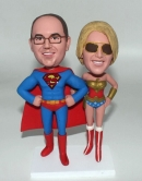 Superman and wonderwoman bobbleheads