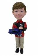 Custom bobbleheads Boy with toy car