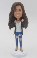 Custom Bobbleheads holding make up