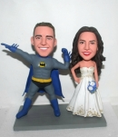 Custom wedding bobbleheads Batman