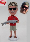 Custom bobblehead holding fish