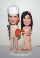 Custom Chef wedding cake toppers