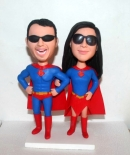 Superman couple bobbleheads