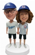 Custom couple bobbleheads Baseball