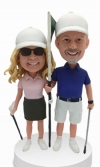 Custom Bobbleheads for golf couple