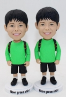 Custom boy twins bobblehead dolls