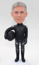 Custom motorcyclist bobblehead