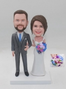Custom Wedding bobbleheads with flowers/bouquet