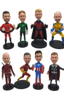 8 custom bobbleheads superhero bullk order different faces