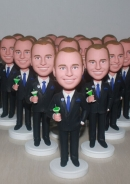 15 custom bobbleheads wholesale same face dolls