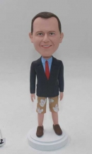 Custom Bobblehead with suit and shorts