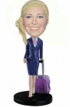 Custom bobbleheads flight attendant