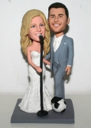 Custom wedding bobblehead football and singing