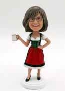 custom bobbleheads German beer girl