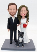 Custom wedding bobblehead doll