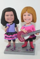 custom girl rock bobbleheads - sisters