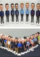 10 customized bobbleheads for Team different faces