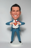 Superman transform bobblehead