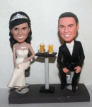 Custom beer wedding bobbleheads