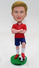 Custom bobble head doll soccer football player