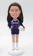Custom bobblehead volleyball girl
