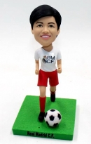Custom bobblehead playing football