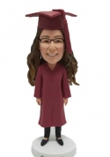 Custom Bobblehead Graduation in burgundy gown