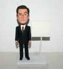 Custom bobbleheads Businessman with whiteboard
